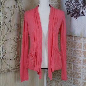 Billabong peach lightweight super soft cardigan